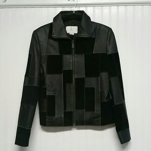 Studio C Leather and Suede Patchwork Jacket